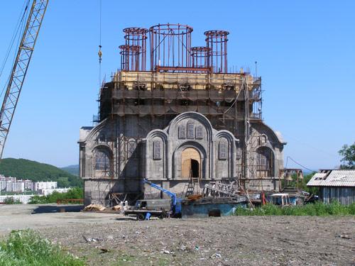 строящийся храм в Петропавловске-Камчатском